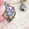 Butterfly Kilt Pin brooch, handpainted butterfly