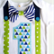 First Birthday Outfit Baby Boy Onesie Blues and Greens Bow Tie Onesie all sizes