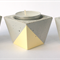 Concrete square tealight candle holders, pastel
