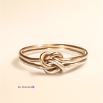 Double knot ring, two toned, gold and silver, promise ring