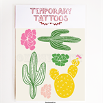 Temporary Tattoos Colour Cactus Me, Fake Tattoos, Cacti, Gift, Party Fun