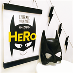 Super Batboy Batman Wall Art Print Decor Baby Nursery Kid