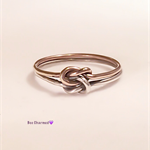 Rose gold double knot ring, two toned ring, promise ring