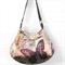 Gold velveteen butterfly bag