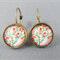 Cabochon Drop Earrings - Colourful Tree