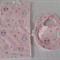 Newborn Baby Girl Bib and Burp Cloth Set - Penguins!