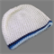 preemie | baby boy crochet beanie | white with blue stripes | gift | little