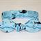 """Baby bow headband, whales, baby girl headband, """"Shamu"""", light blue, navy"""