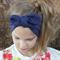 "Baby Turban Headwrap, stretch, navy blue headband, ""Daria"", baby headwrap"