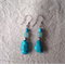 Sterling Silver,Sleeping Beauty Turquoise and Amazonite Earrings