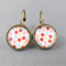 Cabochon Drop Earrings - Dusty Spot
