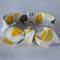 """Baby Headband, lemon, grey, spots, """"Jacqui"""", baby headwrap, baby knot headband"""