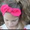 """Baby Turban Headband, pink, """"Taylor"""", baby knot headband, hot fuschia headband"""