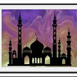 Fairy tales Arabian nights Landscape Nursery Children Art Print