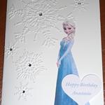 Personalised Birthday Frozen Handmade Card