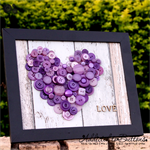 Button Art | Button Picture | Button Wall Art | Decorative Framed Image - LOVE