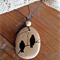 Wooden Two Birds Photo Pendant