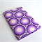 Small card holder purple and white geometric pattern