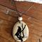 Wooden Photo Bird pendant
