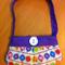 Super Cute Little Girls Pleated Purse Handbag Chinese Lanterns Design