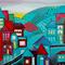 Cityscape Night 40 cm x 30 cm canvas