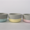 Set of three concrete mini planter/ candle pots, round, pastels