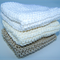 Knitted baby washers, set of three, Cotton blend,  aprox 17 x 17 cms each