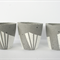 Set of three concrete mini planters/candle pots, White