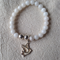 White Jade and Sterling Silver Plate Bracelet