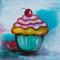 Cute Cupcake 20 cm x 20 cm Canvas