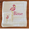 Personalised Towel Set, Flamingo embroidered towel and facewasher