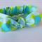 """Baby Headband, """"Natalie"""", baby headwrap, baby knot headband,lime green,sky blue"""