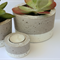 Concrete planter trio set, White dipped
