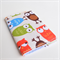Small card holder blue orange green and brown owls