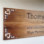 """(Custom Order) Family Name Sign - """"Our Little Family"""" / Surname + First Names"""