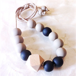 Raw Ebony Clay Bead Necklace