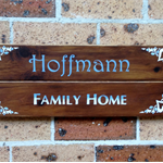 (Custom order) Family name home sign/plaque