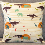 Cushion Cover - Hand Made  - african / safari / serengeti themed pattern