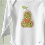 pretty pear | baby girl onesie | applique | gift