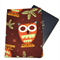 Autumn Owls on Brown Passport Cover/Holder