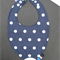 Sensory Bib Dribble Bib Waterproof with Teether, Crinkle Fabric and Taggies