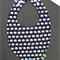 Sensory Bib Dribble Bib Waterproof with Teether, Crinkle Fabric and Taggies
