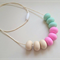 Silicone Teething Necklace - Ava Abacus (Pink & Mint)