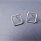 Square Studs. Sterling Silver Earrings. Eco Friendly. Imperfectly perfect