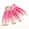 Pink Flowersugar Lace Skirt - custom sizes 1 to 4