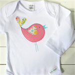pretty birdie | baby girl onesie | applique | gift