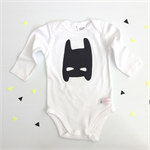 Batman Onesie - super hero, outfit, boy, girl, baby, black newborn,