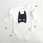 Batman Onesie - super hero, outfit, boy, girl, baby, black newborn,