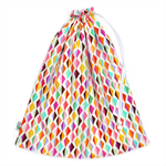 Diamond Ripple Swimming Bag / Waterproof Wet Bag. Pool or Beach Bag. Rainbow.