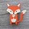 Wooden brooch - Fox